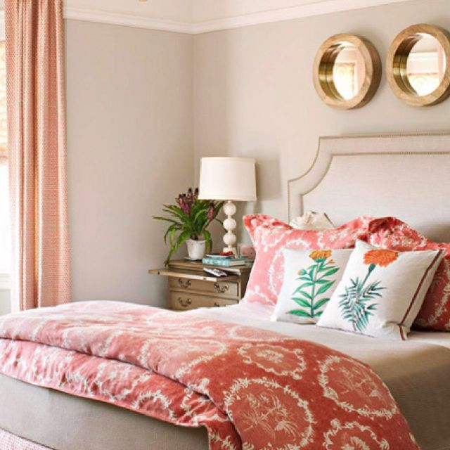Headboard and mirrors