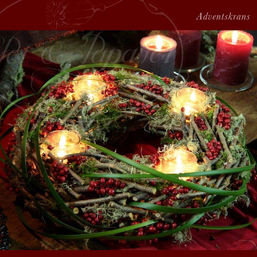 mooie advent krans #adventkransen
