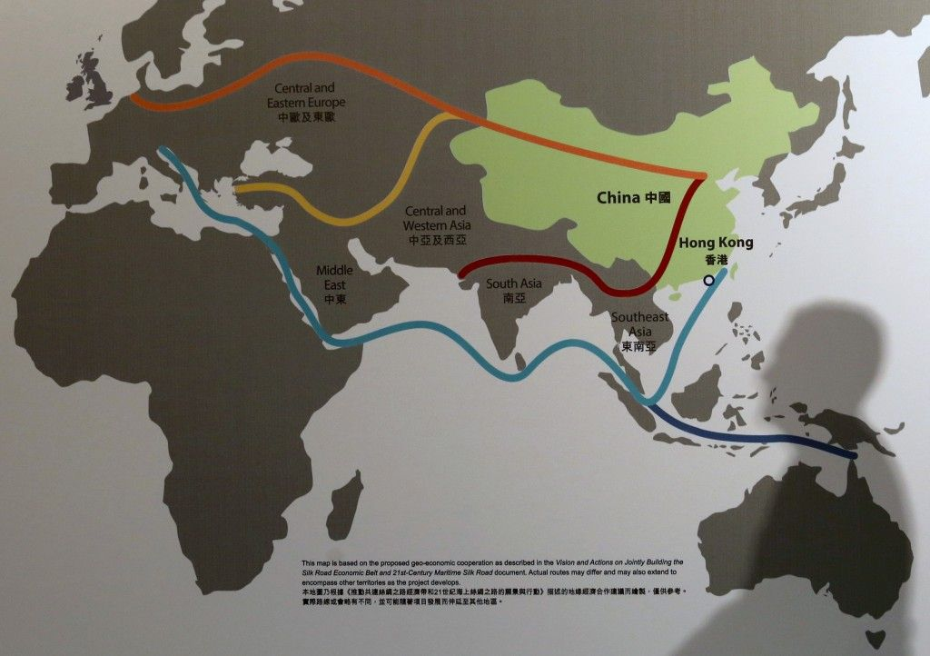 China is spending nearly $1 trillion to rebuild the Silk Road Silk - copy hong kong world map asia