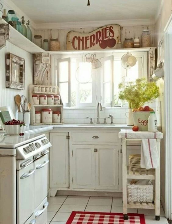 Exceptionnel Country Kitchen #decor #vintage # Rustic #retro #sunshine #clean #crisp