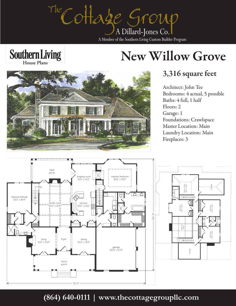 New willow grove the cottage group southern living for The willow house plan