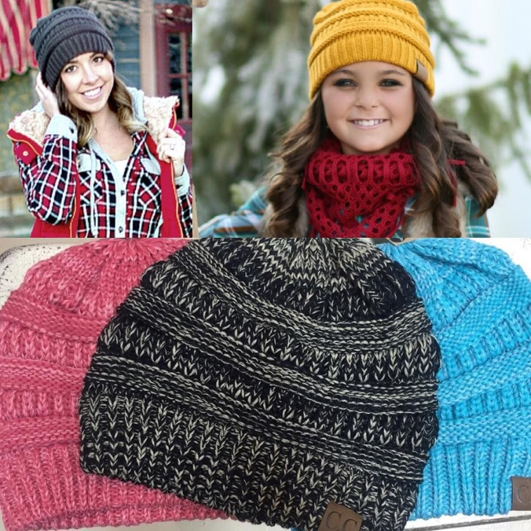 Our favorite beanie of the season is back and in new two toned colors!! These are must have for winter and only $9.99!!