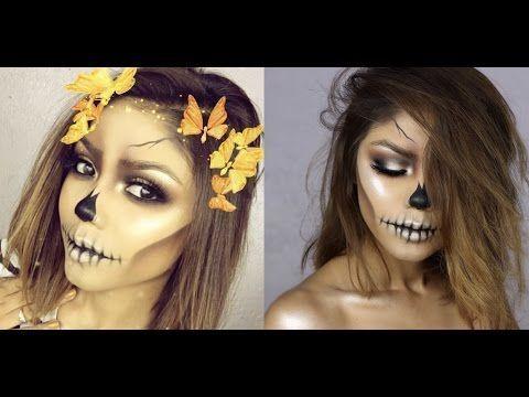 best ideas for makeup tutorials  easy skull  halloween