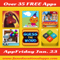 Top AppFriday with over 35 free apps for your kids to