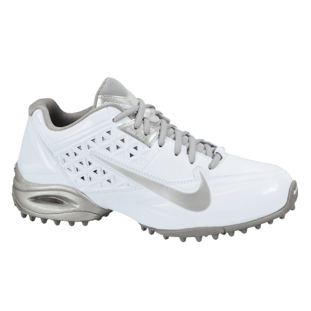 Nike Air Speedlax 4 Turf Women's Lacrosse Cleats White/Metallic Silver) ***  Quickly view this special product, click the image : Athletic Shoes