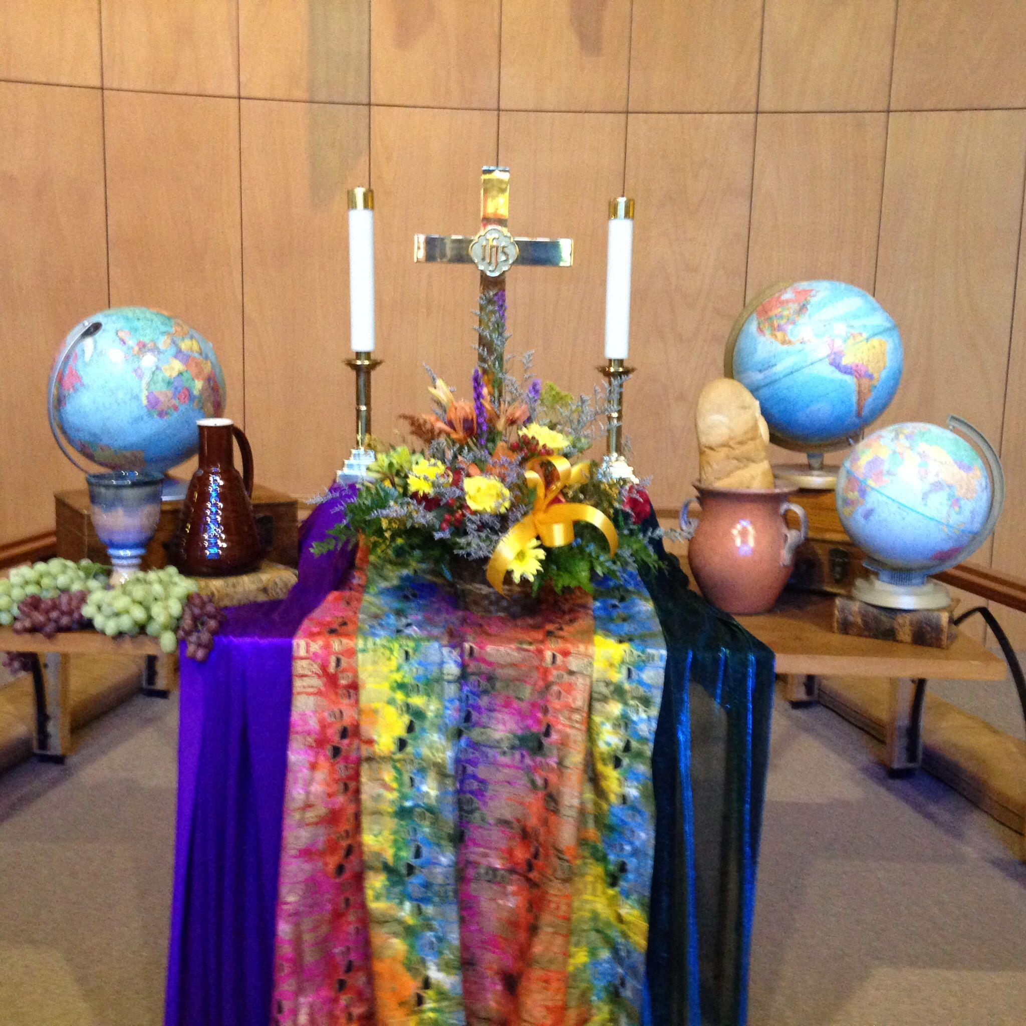 Altar Ideas: World Communion Day.