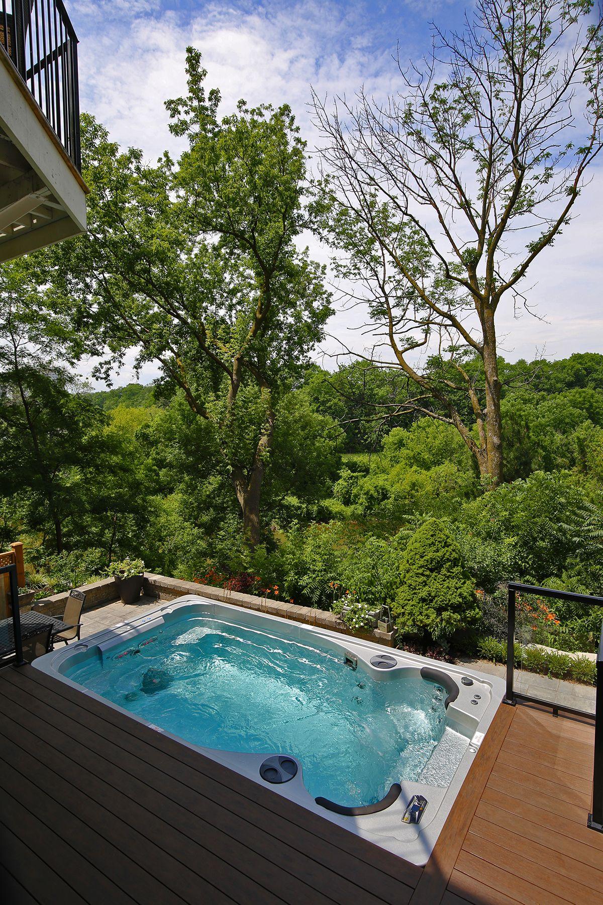 Swim Spas Hot Tub Backyard Hot Tub Garden Modern Hot Tubs