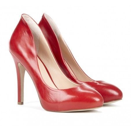 Lipstick Red Pumps.