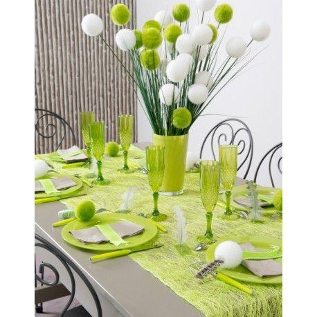 Chemin De Table Abaca Vert Anis 5 M Achat Chemin De Table Abaca Deco Table Champetre Chemin De Table Deco Table