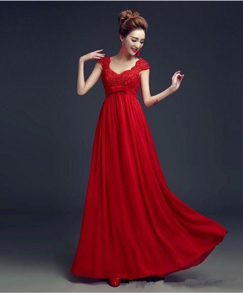 Modelos de vestidos rojos largos