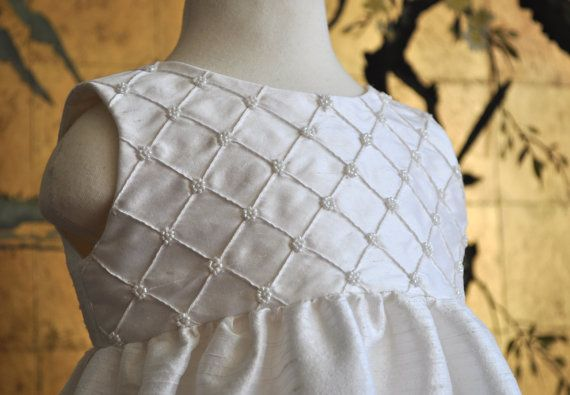 Summer Clearance   Beaded Lattice work Silk by DeniSue4U on Etsy, $130.00
