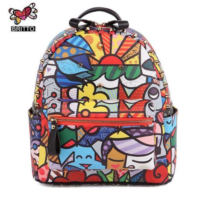 HEYFAIR Womens Floral Genuine Leather Backpack Daypack Shoulder Bag