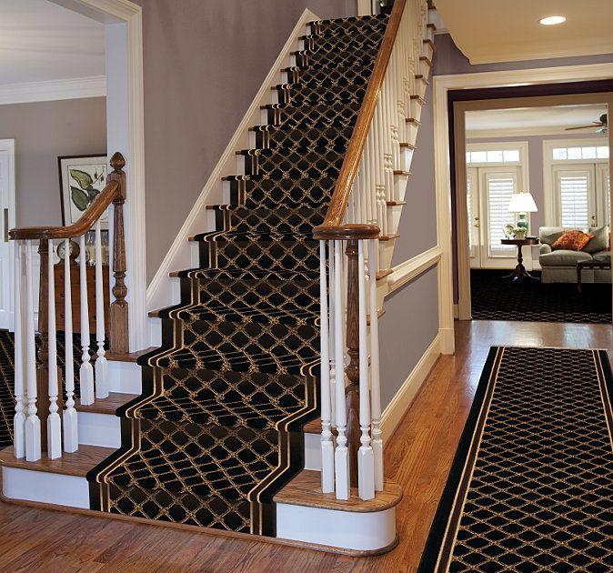 Karastan Coventry Trellis Stair Runner Rugs On Carpet