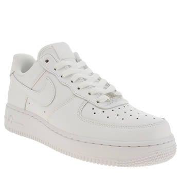 Nike Air Force 1 Faible Formateurs Blancs Femmes