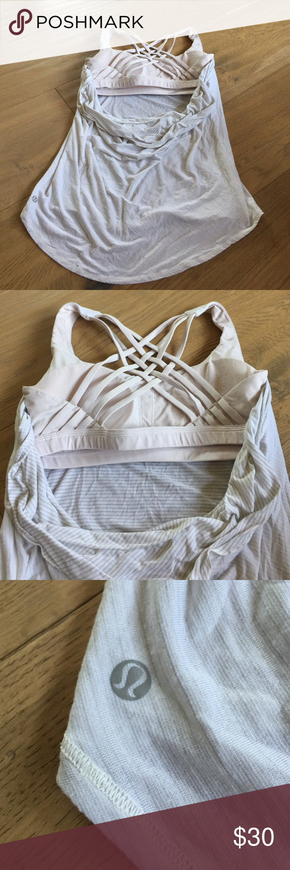 2 in 1 lulu top with sports bra incorporated Rarely worn lululemon athletica Tops