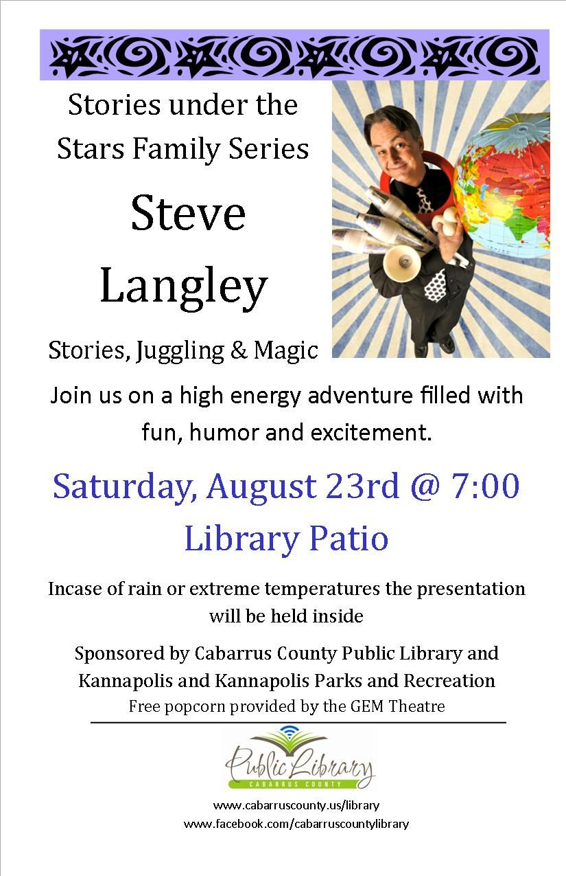 Join Us On Saturday 8 23 7pm At The Kannapolis Brach Library