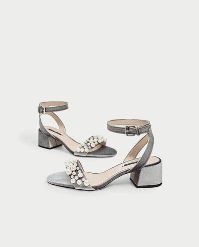 Perlas Zapatos Mujer Sandalias Sandalia Detalle Tacón Terciopelo Y7gmb6yvIf