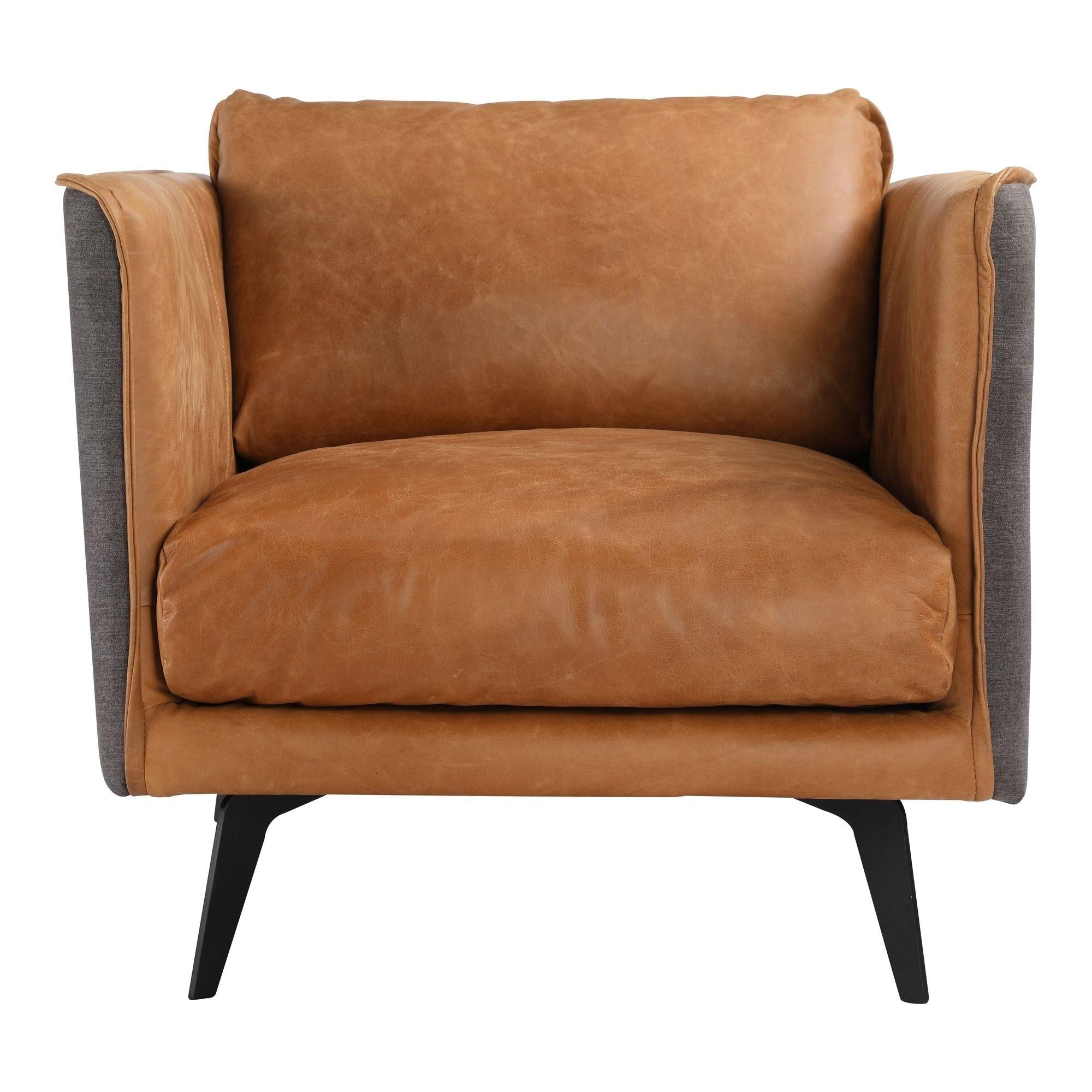 Strange Aurelle Home Mid Century Modern Cognac Leather Arm Chair Gamerscity Chair Design For Home Gamerscityorg