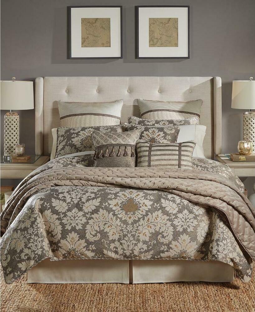 Croscill Nerissa King Neutral Floral 4 Piece Comforter Shams Bedskirt Set Croscill In 2020 Comforter Sets King Comforter Sets Bedding Master Bedroom