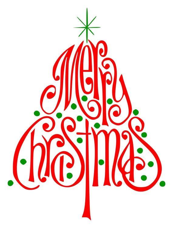 Merry Christmas Vinyl Wall Art Christmas! Pinterest - free xmas card template