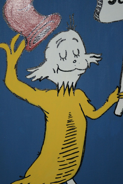 Dr Seuss inspired SAM canvas art room decor by FancyFaceBags, $69.99 ...