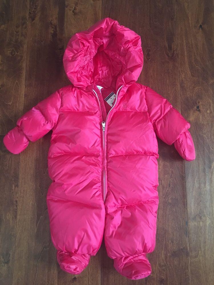 d8e0b32bce83 NWT  165 RALPH LAUREN HOODED DOWN SNOW SUIT SZ 3M  fashion  clothing ...