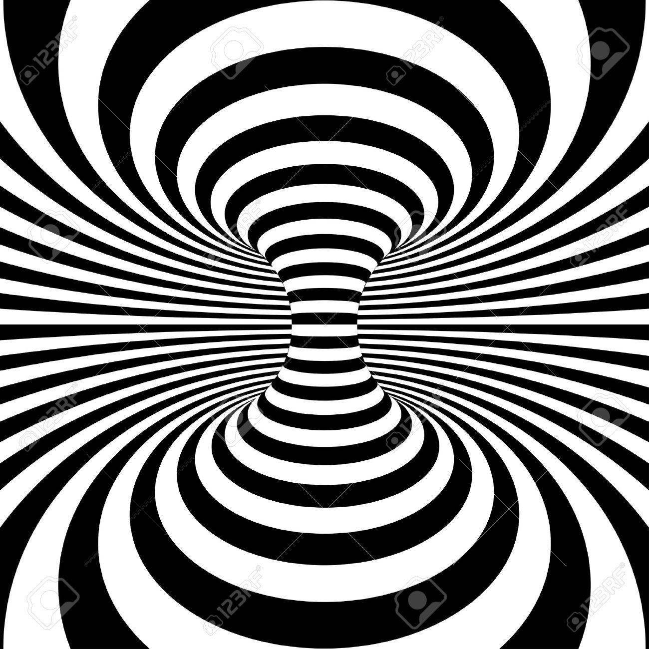 Disegni Geometrici Bianco E Nero stock photo   arte illusionista, bianco e nero e op art