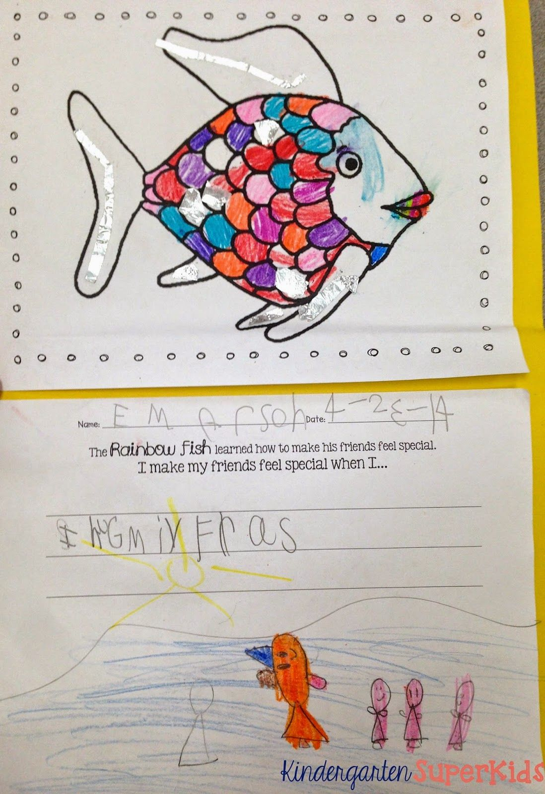 Fish Frenzy Literacy Resources A Rainbow Fish Freebie