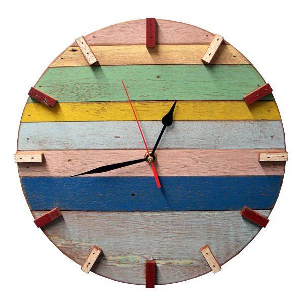 Huntington Spree Reclaimed Wood Wall Clock 54 Clock Wall Decor Retro Wall Clock