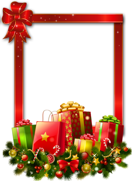 presents free transparent | Red Large Christmas ...