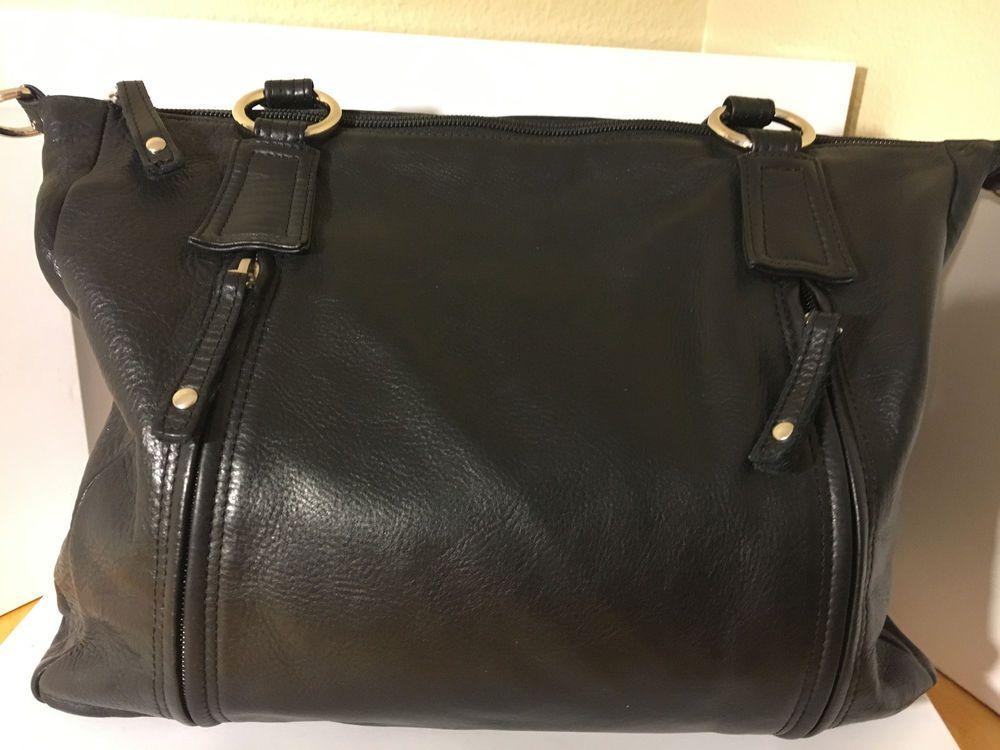 Osgoode Marley Feel The Difference Black Leather Shoulder Bag Silver Hardware Osgoodemarley Shoulderbag