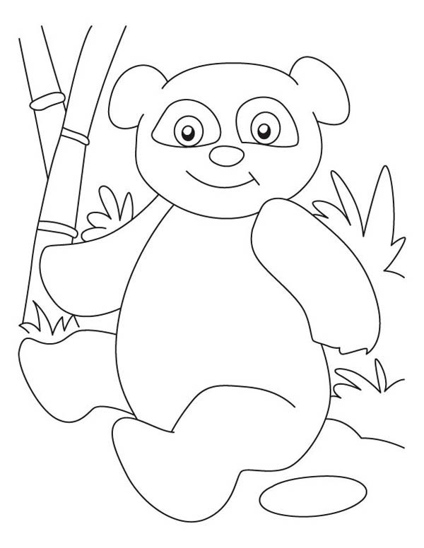 Panda Is Sitting On Ground Coloring Page Coloring Sun Coloring Pages Panda Coloring Pages Coloring Pictures