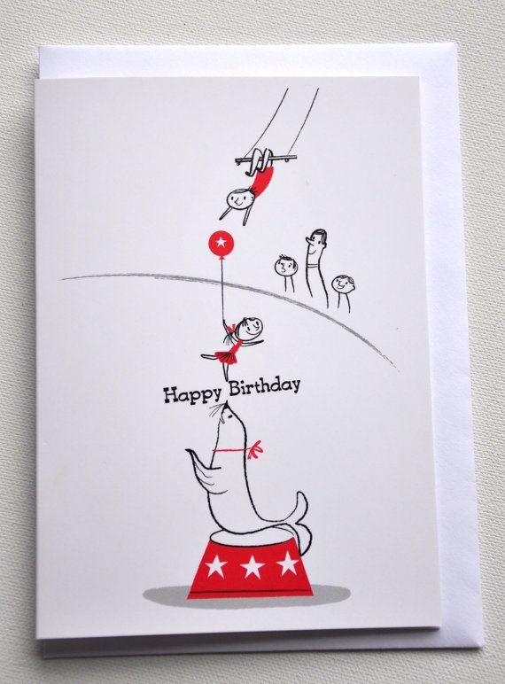 HAPPY BIRTHDAY CARD by Nila Aye Circus Tricks – Pornographic Birthday Cards