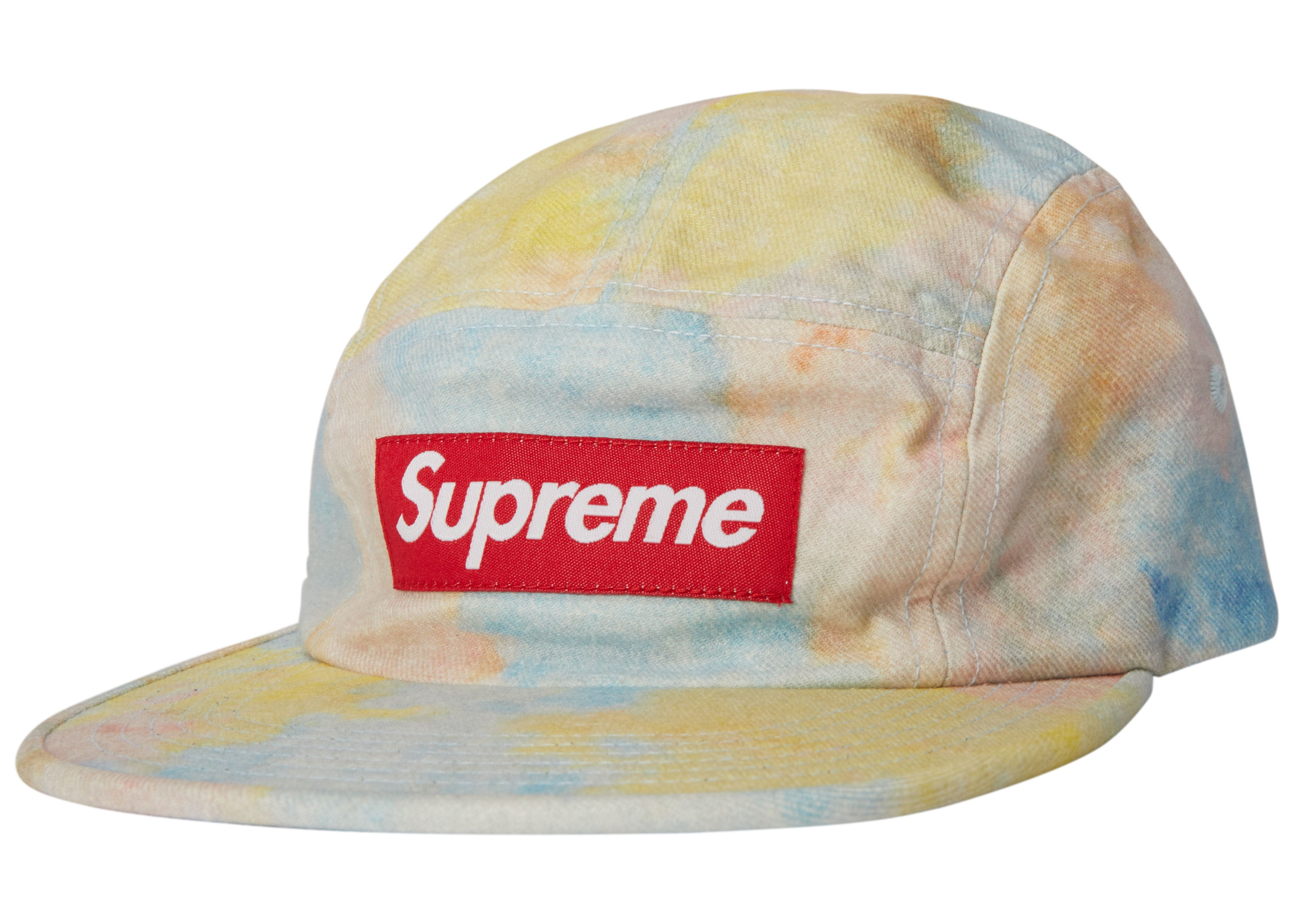 59676d24 Check out the Supreme Multicolor Denim Camp Cap Multicolor available on  StockX