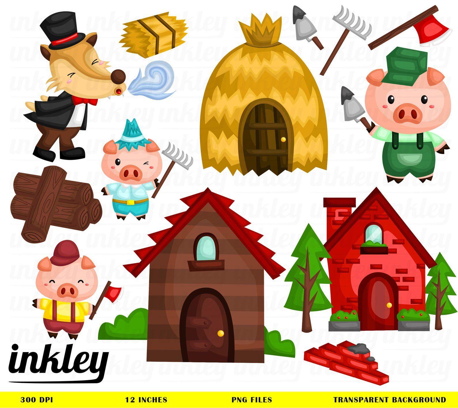 Three Little Pigs Clip Art Cliparts Co   Three little pigs, Little pigs, Pig  clipart