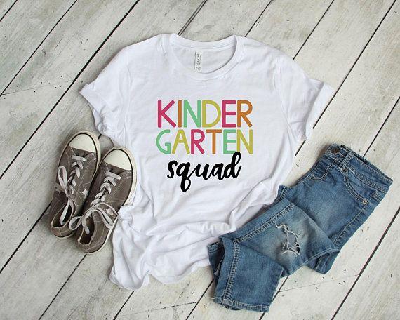be2efde1d Kindergarten Squad T-Shirt, Kindergarten Tribe, Team Kindergarten, Back to  School Shirt
