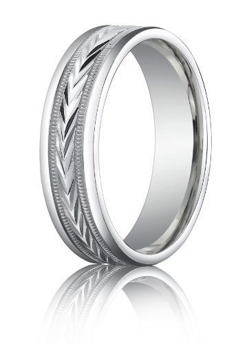 10k White Gold 6mm Comfort Fit Harvest Of Love Round Edge Carved Band Sz 4 15 A White Gold Wedding Rings Palladium Wedding Band Palladium Mens Wedding Bands