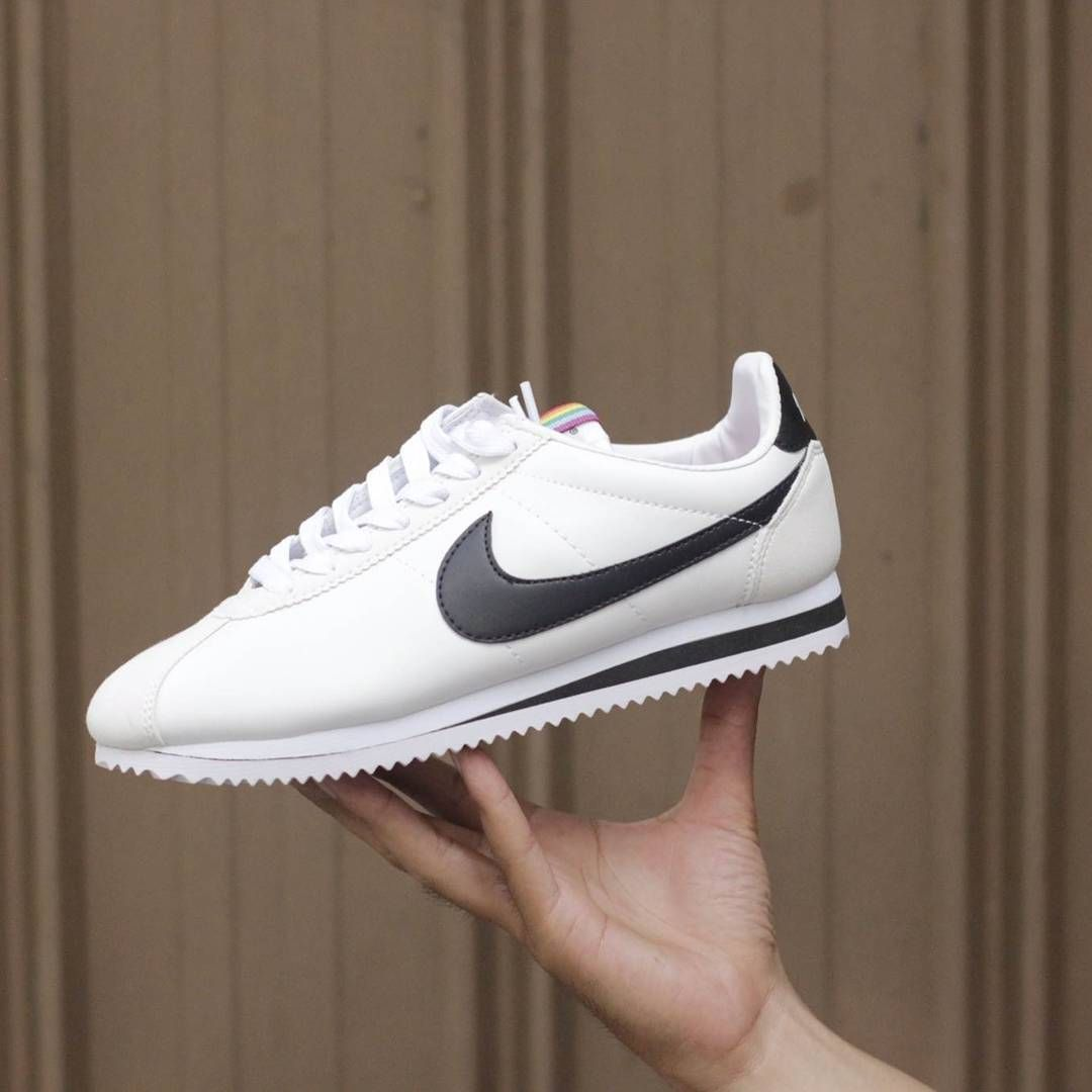 best authentic 67c69 57259 ... nike cortez white black premium high quality size 36 37 38 39 40  idr685.000