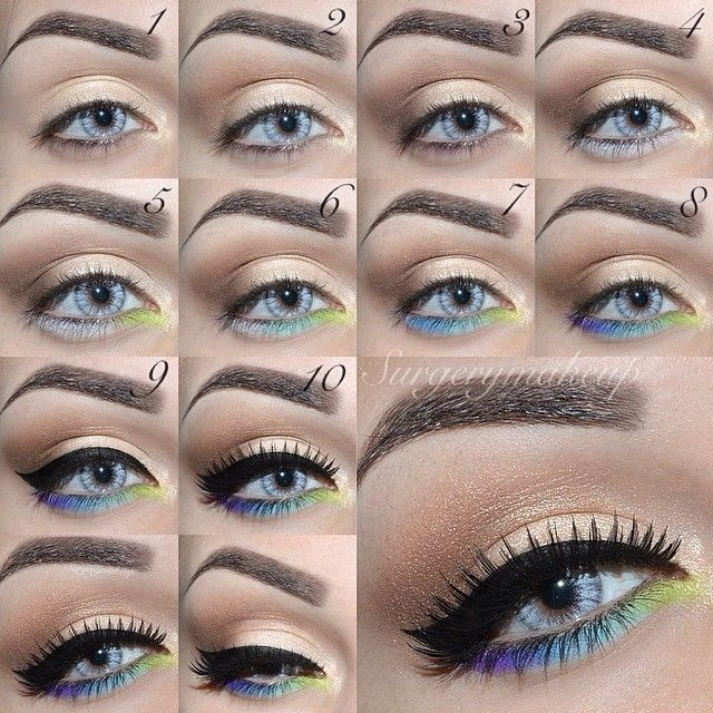 Quirky Spring Eye Look Tutorial Spring Eye Makeup Party Eye
