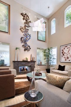 Yorba Linda Living Room Contemporary Living Room Orange