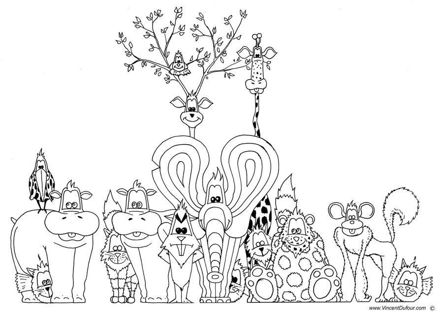 Pin On Coloriage Animaux Gratuit Dessin Colorier Enfant Animaux Vincent Dufour