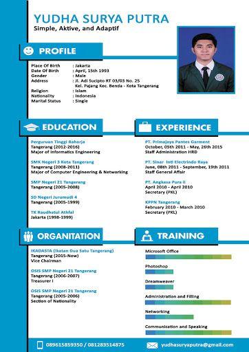 Contoh CV menarik | Template | Pinterest