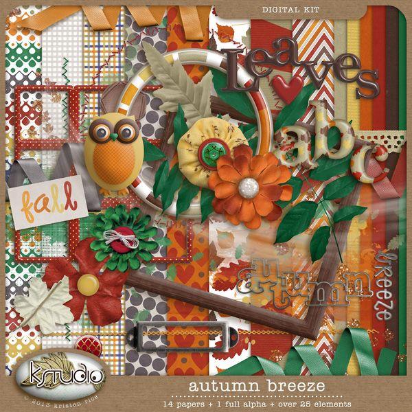 Autumn Breeze - Full Kit by K Studio #kstudio #autumn #fall #scrapbooking #digitalscrapbooking