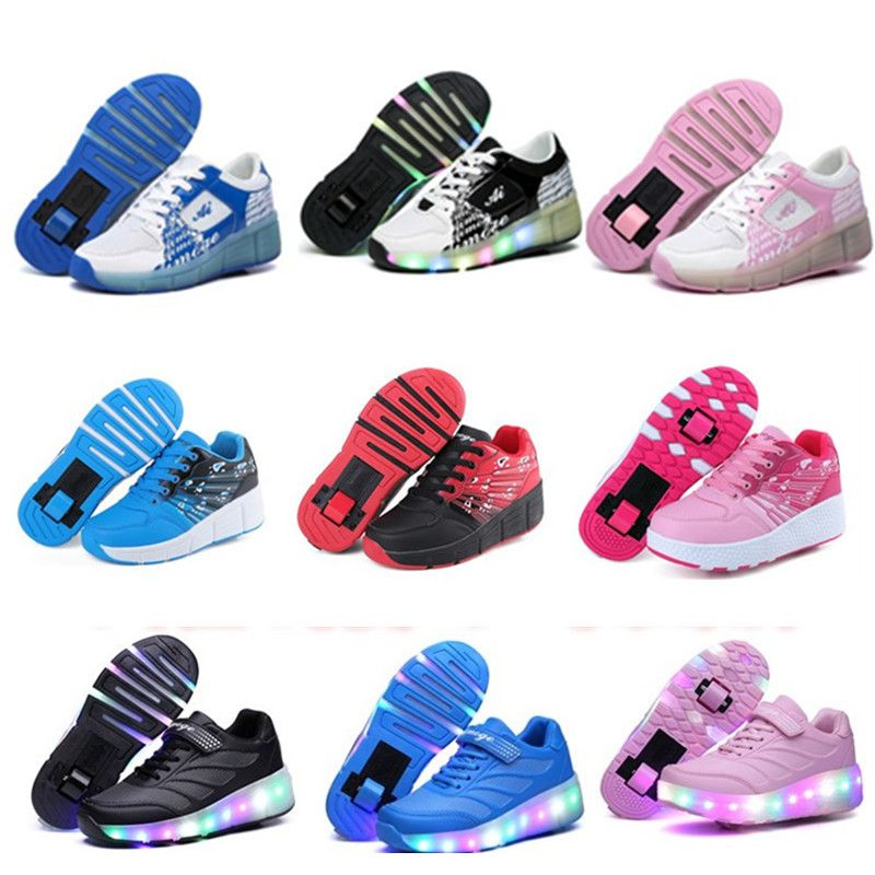 68a10d48c9d 2017 Kind Jazzy Heelys, Junior Meisjes & Jongens LED Licht Heelys, kinderen  Roller Skate Schoenen, Kids Sneakers Met Wielen 16 kleuren