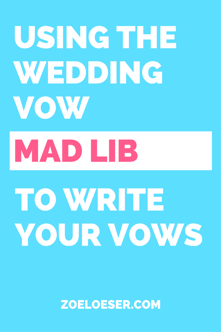 Vow Writing Template | Template To Write Your Wedding Vows Start To Finish With Wedding Vow