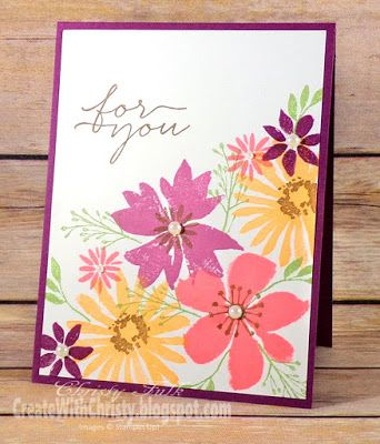 Stampin Up Blooms Wishes Card Complete Instructions Are
