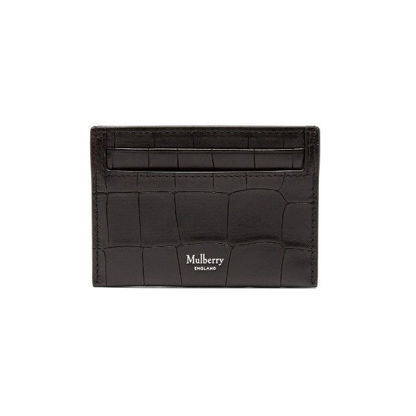 Mulberry Crocodile Effect Embossed Leather Cardholder 98 Liked On Polyvore Featuring Men S Fashio Leather Wallet Mens Card Holder Leather Embossed Leather