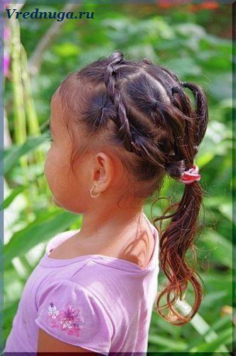 Колоски и косы - прически для девочек