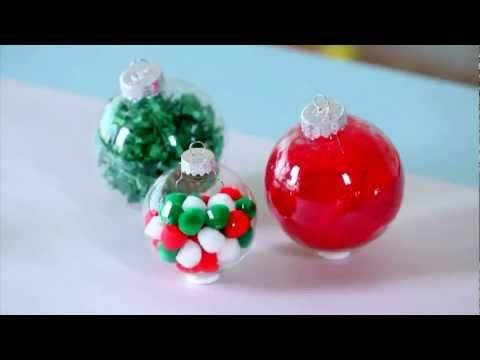 easy homemade christmas ornament ideas youtube - Youtube Homemade Christmas Decorations