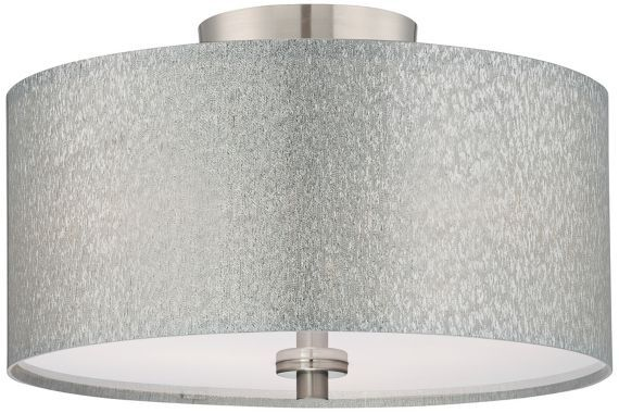 Silver Drum Light Makes A Statement Without Overwhelming